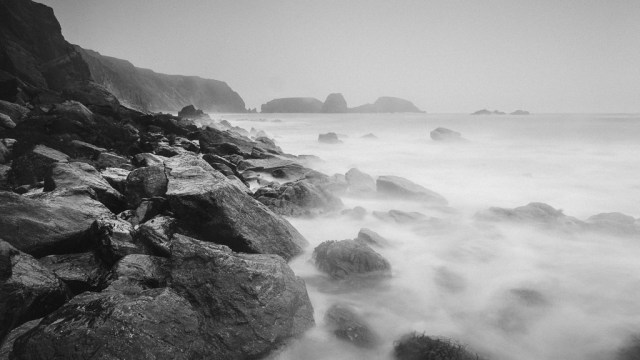 Rocks and Sea at Kilfarrasy Beach