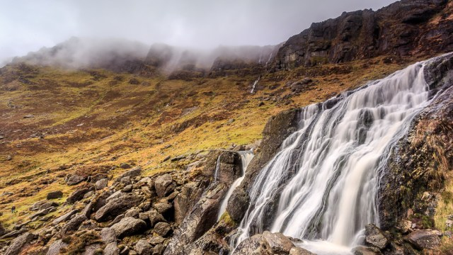 Mahon Falls in the Mountains
