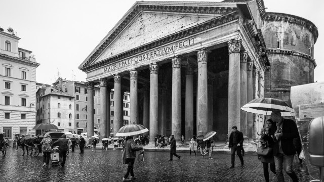 The Pantheon in the rain
