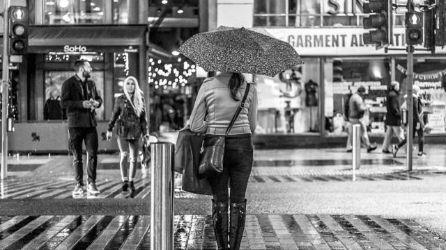 Umbrellas at the Lights