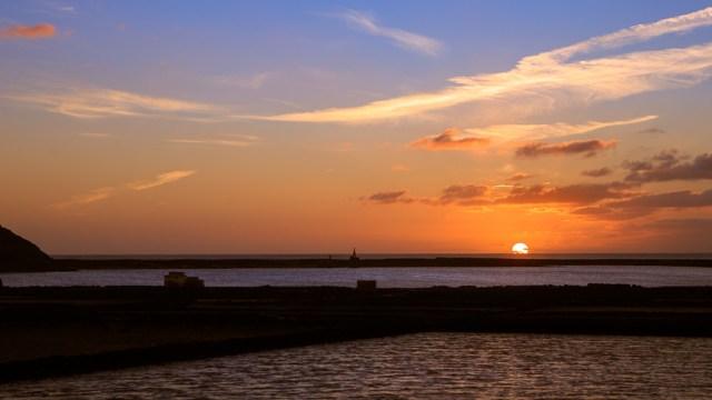 Sun Sets over Mirador Salinas de Janubio