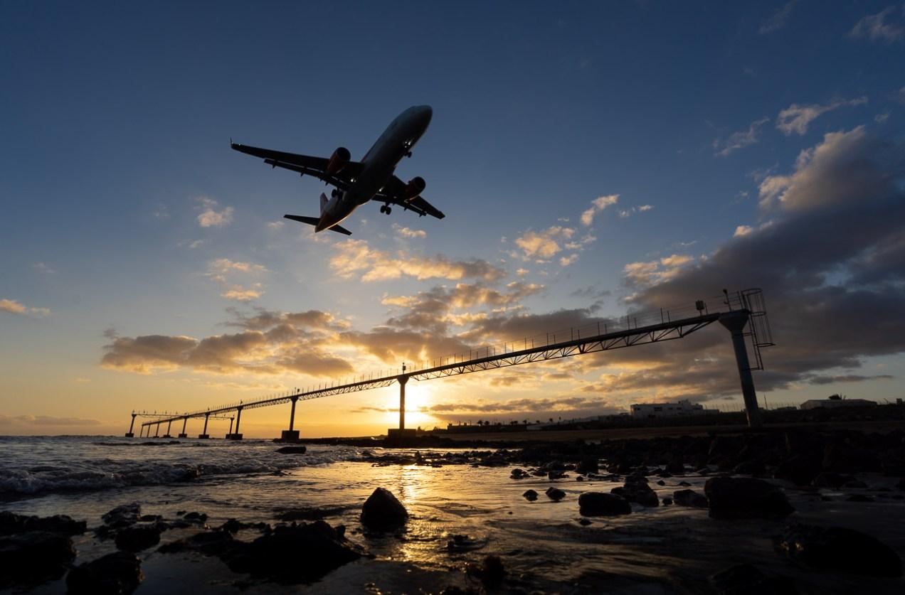 Landing in Lanzarote