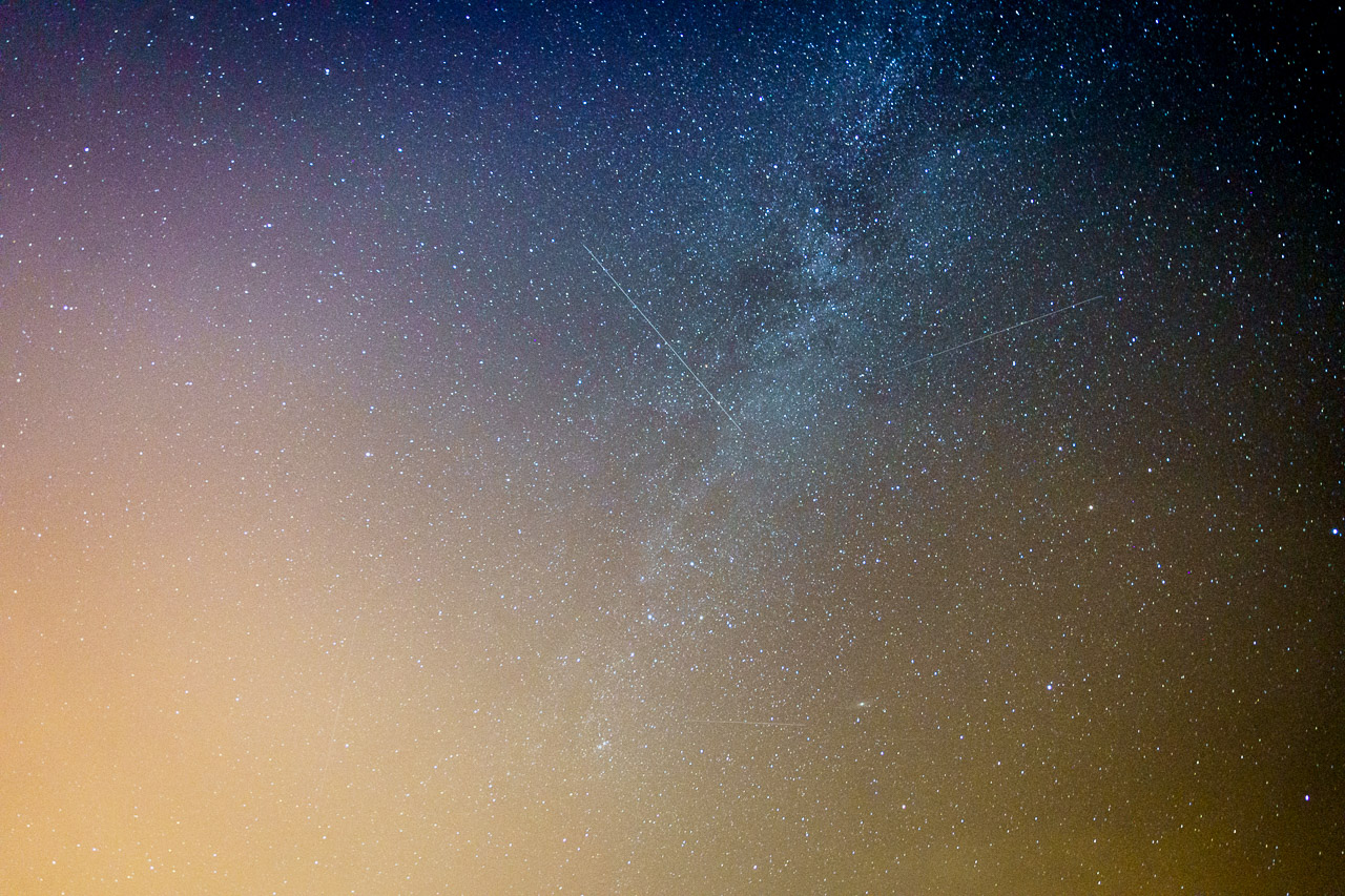 The Milky Way and Perseid Meteors