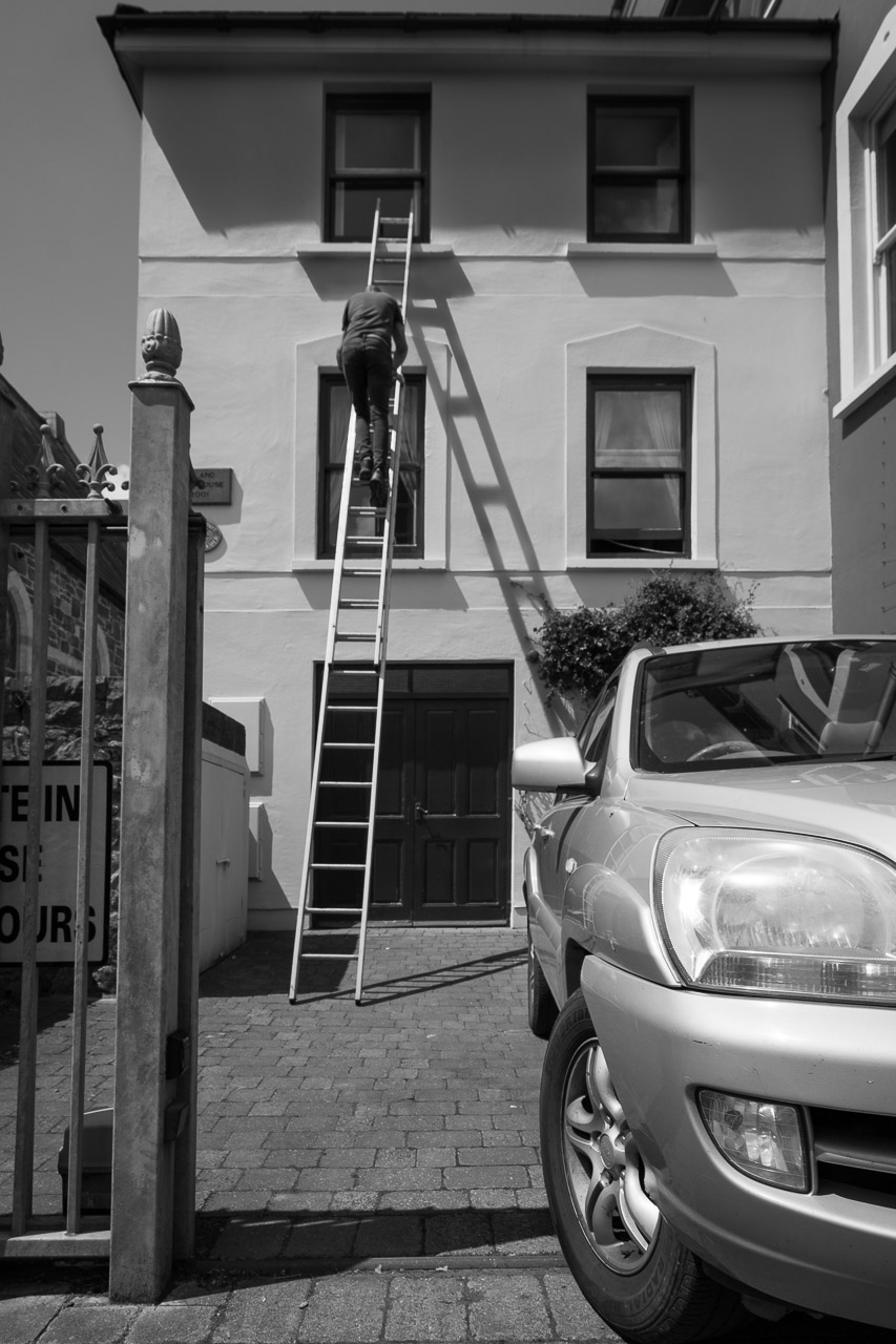 Up a ladder in Kinsale