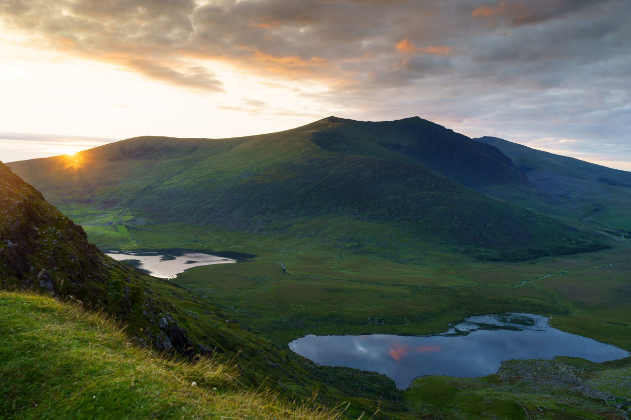 The sun sets on the Conor Pass