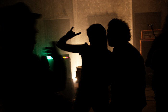 Silhouettes in the club