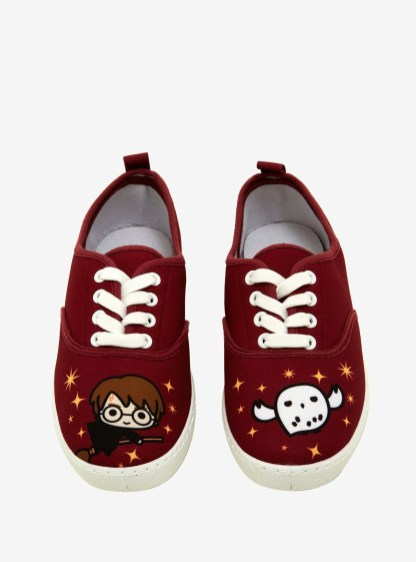 Harry Potter Chibi Harry Hedwig Lace-Up Sneakers