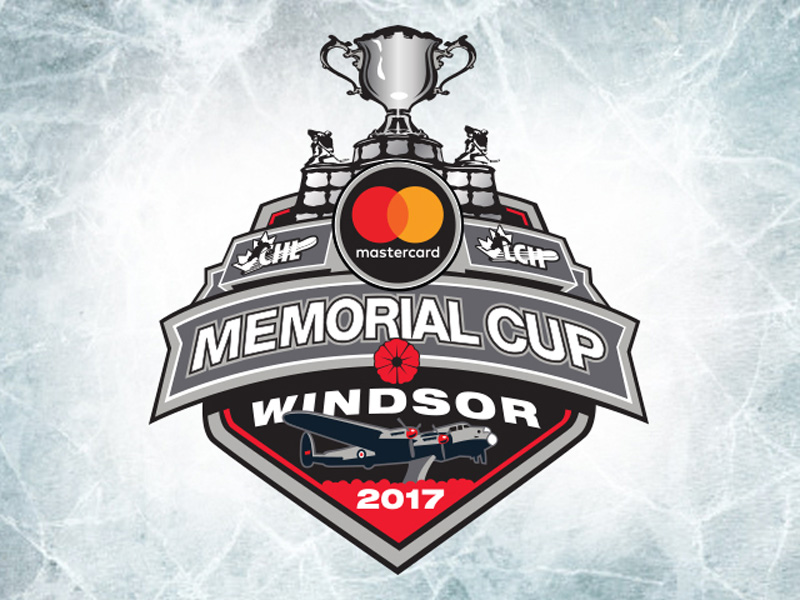 2017 Memorial Cup Logo, Windsor , Ontario, MASTERCARD MEMORIAL CUP TICKETS, 2017 Mastercard Memorial Cup Schedule, Memorial Cup Ticket Waiting List Now Open, Memorial Cup Community Engagement and CHL Alumni Game, 2017 Mastercard Memorial Cup Preview, Windsor Spitfires Stun Saint John Sea Dogs 3-2 in Memorial Cup Opener, Erie Otters Defeat Seattle, CHL Alumni Game at WFCU Centre, 2017 Memorial Cup Game 5 - Sea Dogs Bounce Thunderbirds