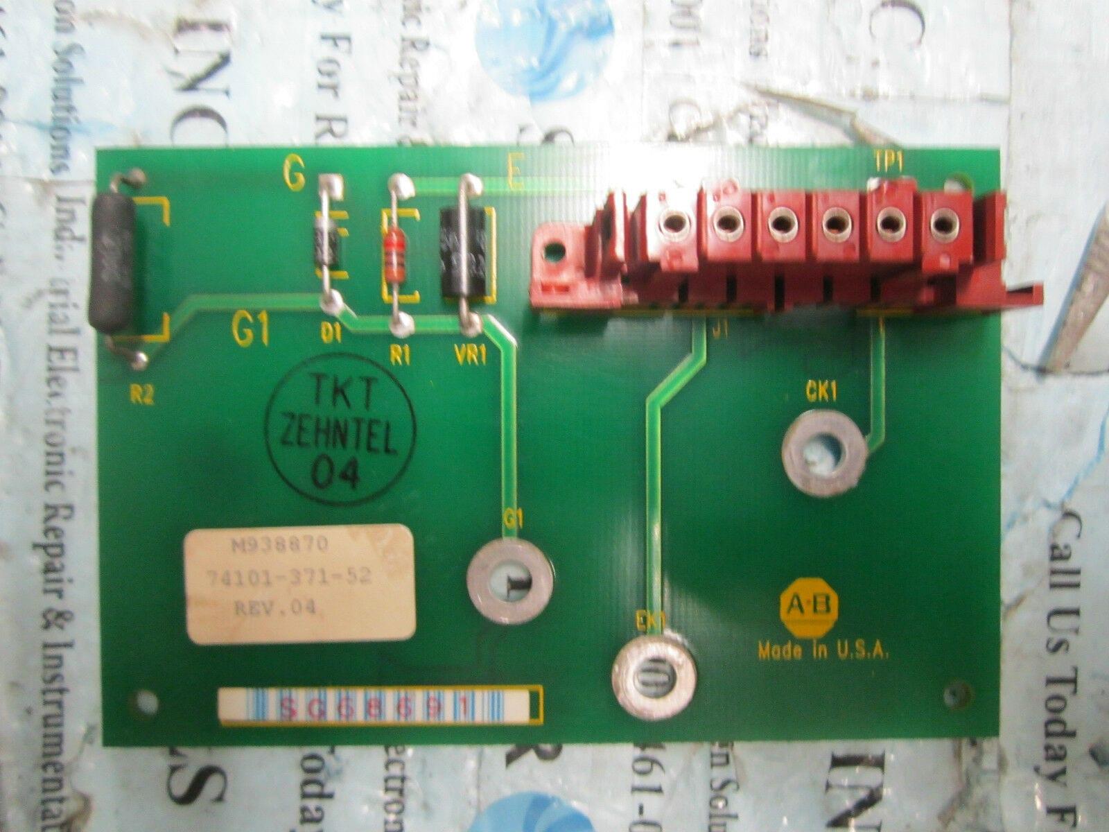 hight resolution of allen bradley 74101 371 52 ac drive board