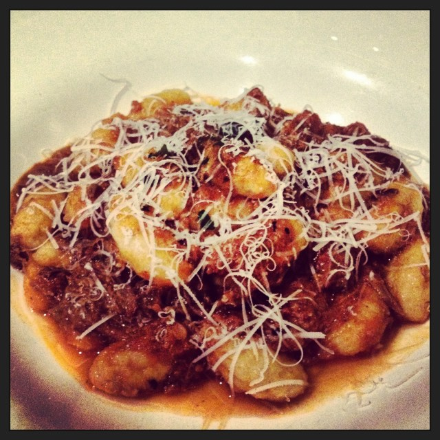 You are looking at probably the best gnocchi al bolognese outside of Italy. Did I mention that the sauce has short ribs in it!