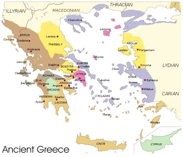 The far reaches of ancient Greece.