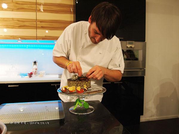 Eric Lanlard making cake at Harrods