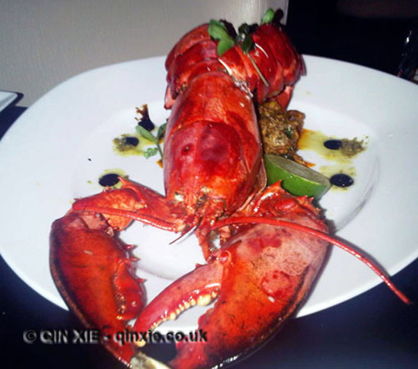 Lobster in Malabar spice, Namaaste Kitchen