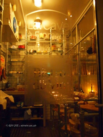 La Cave a Fromage cheese and charcuterie room at Bistro du Vin, Soho