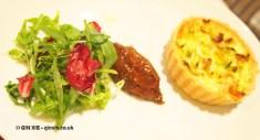 Leek and pancetta tart du jour at Bistro du Vin, Soho