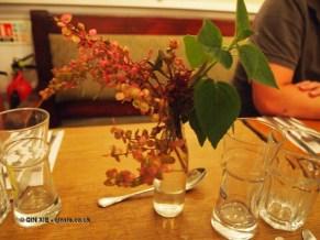 Foraged table dressing at Charles Lamb