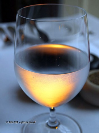 Illuminated wine glass at The Elephant Restaurant, Torquay