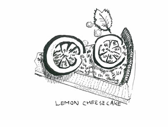 Lemon cheesecake at Piccolino, Heddon Street