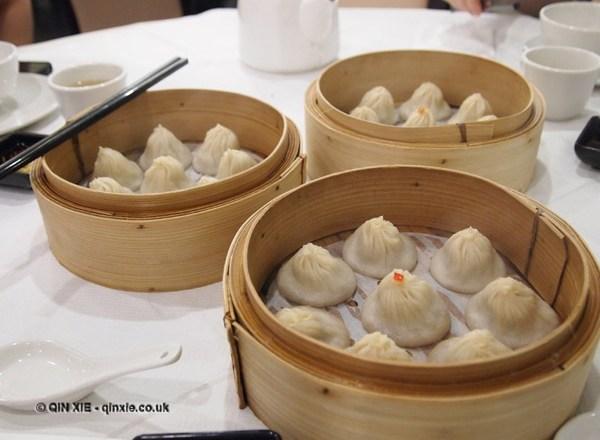 Soup dumplings at Dumplings Legend