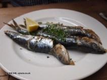 Grilled sardines at River Cottage Axminster