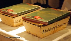 Two boxes of Maldon oysters and Patara cookbook as prizes at Patara, Greek Street