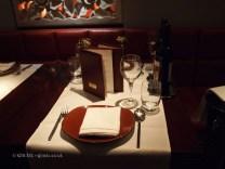 Set table at Patara, Greek Street