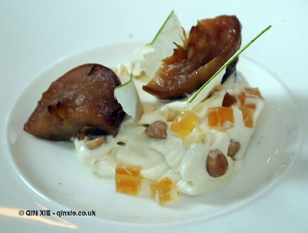 Apple, hazelnut and pannacotta at The Corner Room