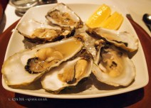 Maldon oysters at Patara, Greek Street