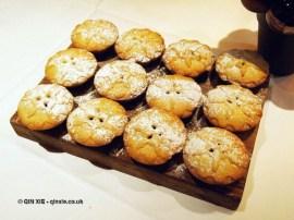 Mince pies at Christmas Celebration Menu preview at Malmaison, London
