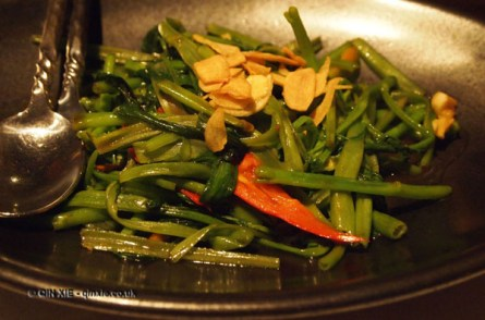 Stir-fried vegetables at Patara, Greek Street