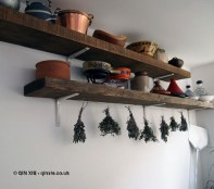 Herbs and pans at Fish in a Day, Food Safari