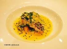 Sea bass with herbs and leek at The Lawn Bistro