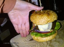 Sizeable burger at Fox and Anchor, Clerkenwell