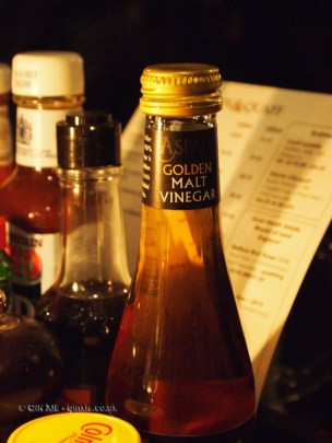 Condiments at Fox and Anchor, Clerkenwell
