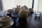 Teapots at Riding House Café
