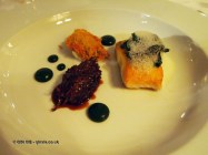 Turbot with rib of beef, horseradish, native oyster at thirty six by Nigel Mendham, Dukes Hotel