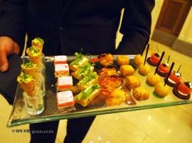 Canapés, Laurent Perrier Tous Les Sense at Massimo, The Corinthia, London