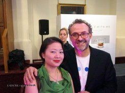 Qin Xie with Massimo Bottura at the World's 50 Best Restaurants 2012