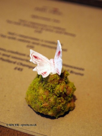 Cake with butterfly, Afternoon Tea at Mari Vanna, Knightsbridge