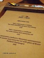 Menu, Afternoon Tea at Mari Vanna, Knightsbridge