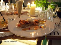 Bara Brith, ice-cream, gingerbread, vanilla caramel with a shot of Welsh whisky from Penderyn, British night, Global Feast 2012