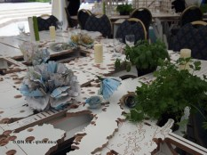 Table set-up, British night, Global Feast 2012