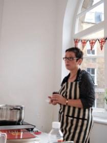 Vivien Lloyd talking about jam making