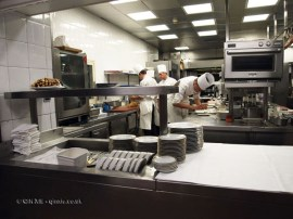Chefs in kitchen, 25th Anniversary Celebration Menu at Alain Ducasse's Le Louis XV in Monte Carlo, Monaco