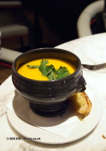Soup of the day, Gillray's Steakhouse, Marriott County Hall