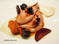 Belly of pork with plums and figs, Phil Howard's The Square, Mayfair