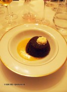 Traditional Christmas pudding, Brancott Estate dinner at Gauthier Soho