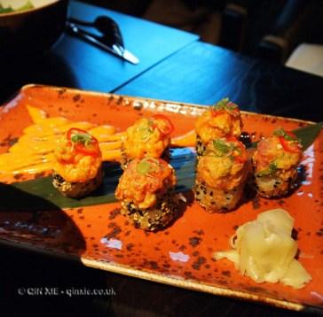 Crunchy sushi, Buddha Bar, London