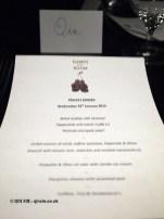 Menu, Languedoc wines at Apero, Ampersand Hotel