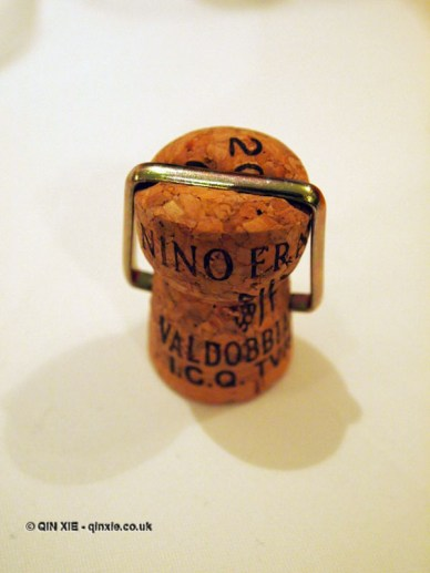 Prosecco cap, Nino Franco at Babbo, Mayfair